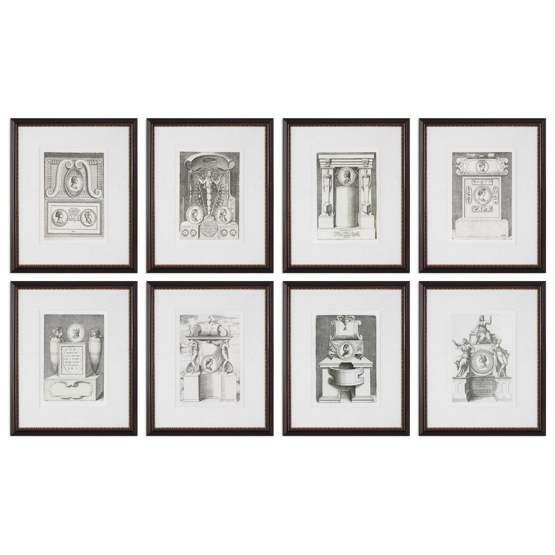 Uttermost Art Monuments (Set of 8) - Item Number: 33652