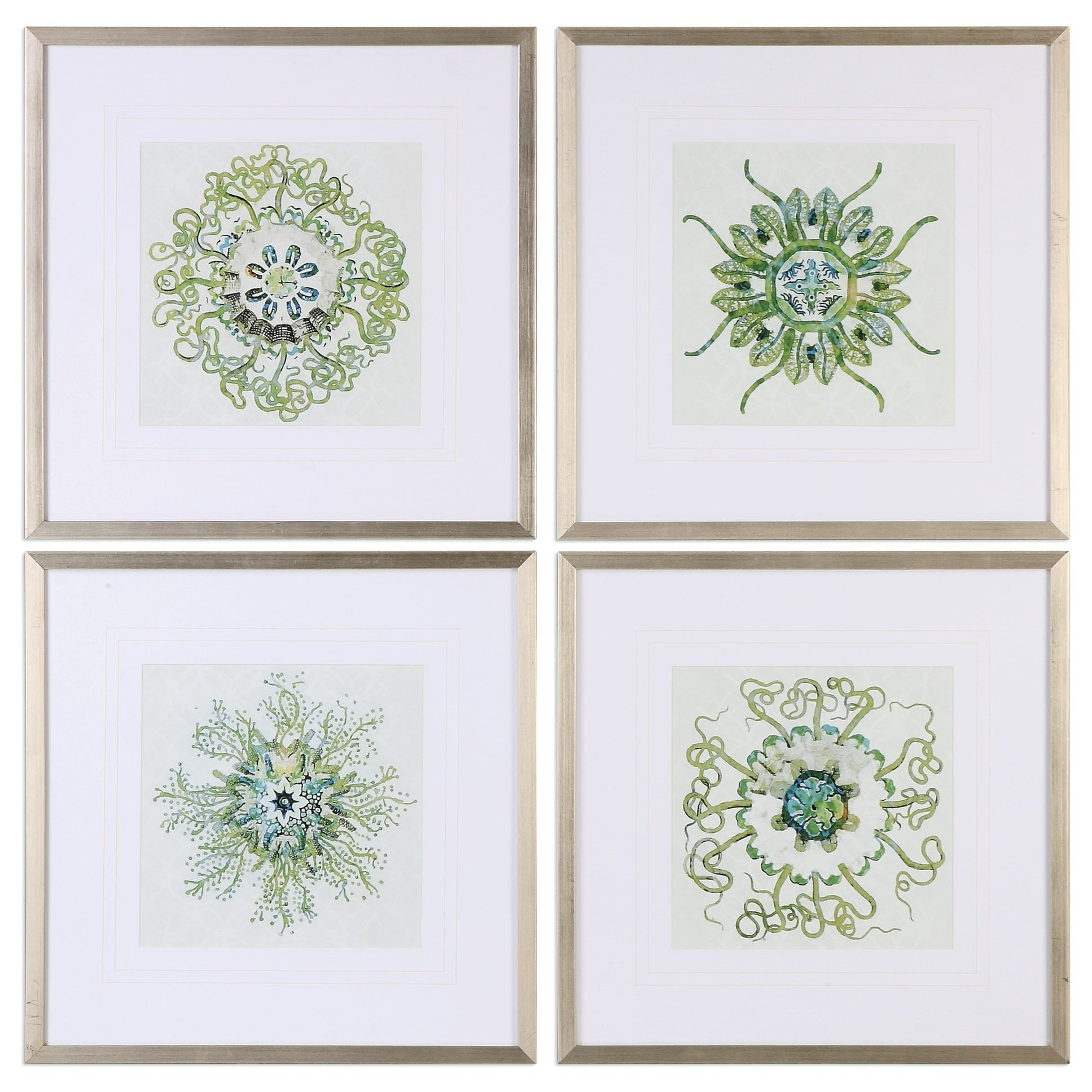 Uttermost Art Organic Symbols (Set of 4) - Item Number: 33656