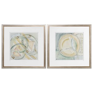 Uttermost Art Abstracts Framed Prints (Set of 2)
