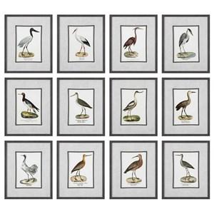 Uttermost Art Seashore Birds Prints (Set of 12)