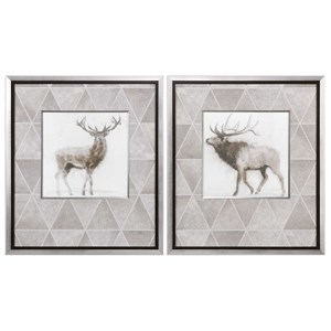 Uttermost Art Stag And Elk Prints (Set of 2)