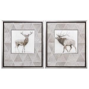 Uttermost Art Stag And Elk Prints (Set of 2)
