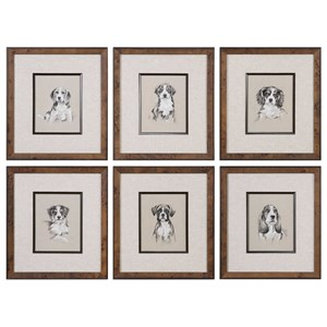 Small Breed Sketch Prints (Set of 6)