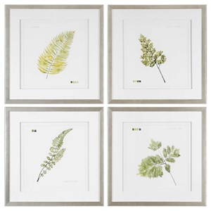 Uttermost Art Watercolor Leaf Study Prints (Set of 4)
