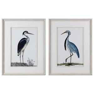Uttermost Art Shore Birds Framed Prints Set of 2