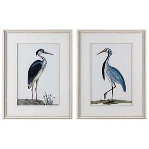 Uttermost Art Shore Birds Framed Prints Set of 2