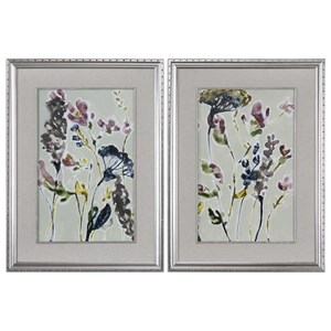 Uttermost Art Parchment Flower Field Prints, Set of 2