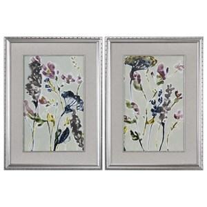 Uttermost Art Parchment Flower Field Prints, Set of 2