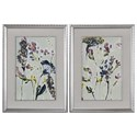 Uttermost Art Parchment Flower Field Prints, Set of 2 - Item Number: 33670