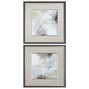 Abstract Vistas Framed Prints Set of 2