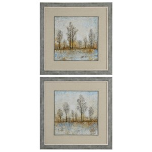 Uttermost Art Quiet Nature Landscape Prints Set of 2