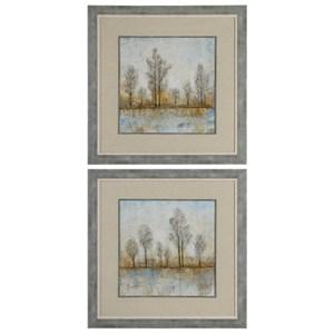 Uttermost Art Quiet Nature Landscape Prints Set of 2