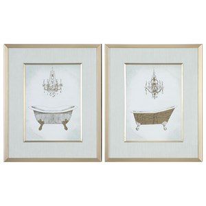 Uttermost Art Gilded Bath Prints