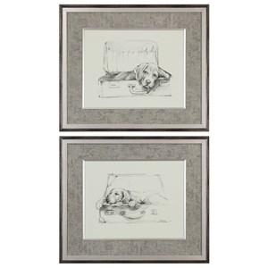 Uttermost Art Stowaway Dog Prints