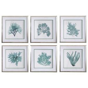 Coral Reef Framed Prints, Set/6