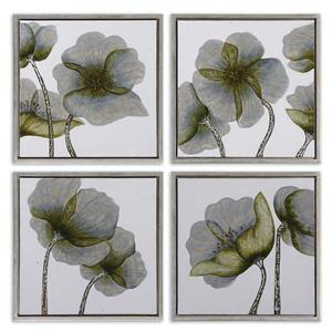 Uttermost Art Mini Floral Glow Set of 4