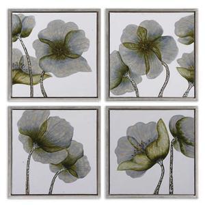 Uttermost Art Mini Floral Glow Set of 4