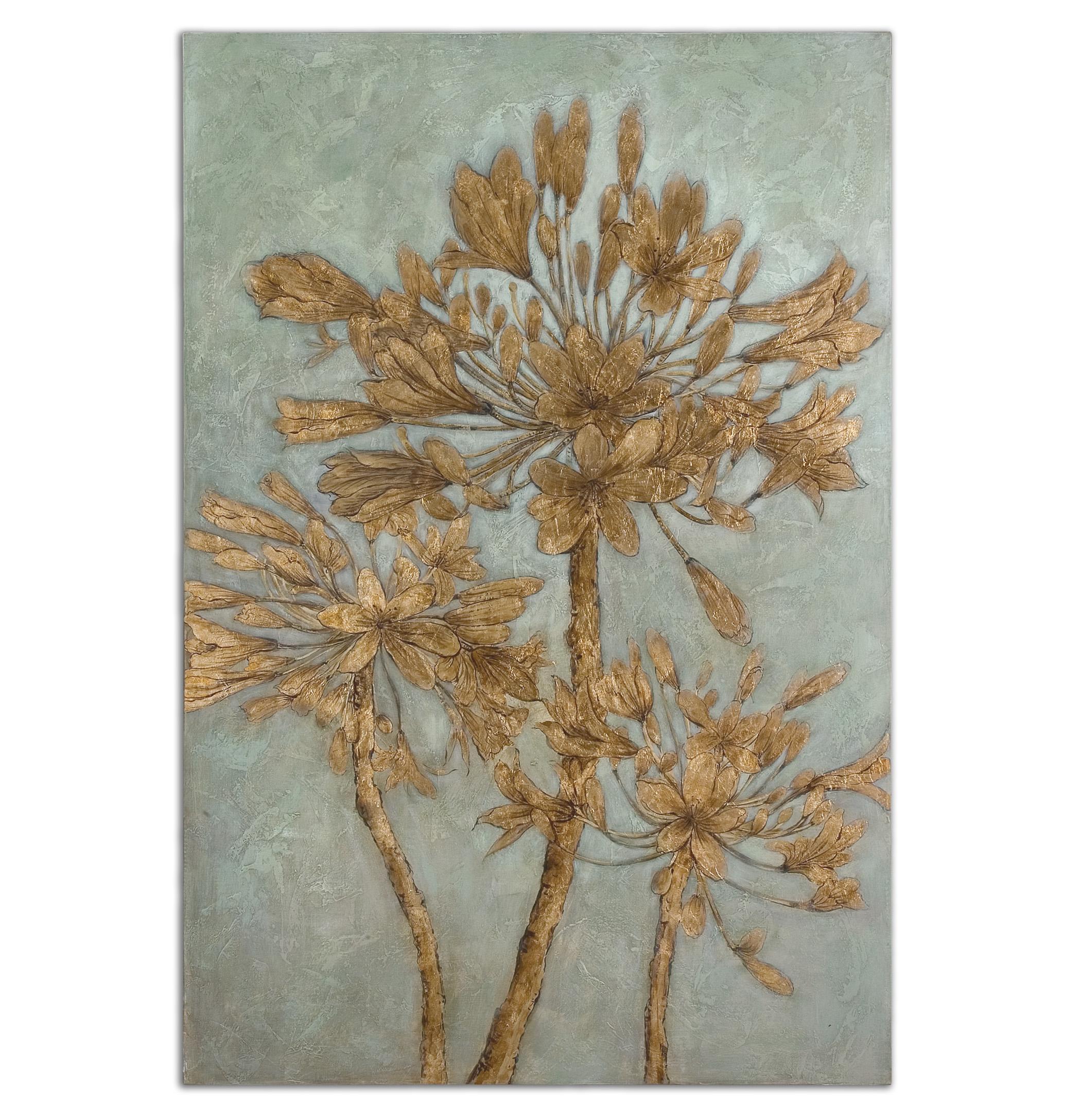 Uttermost Art Golden Leaves Wall Art - Item Number: 34275