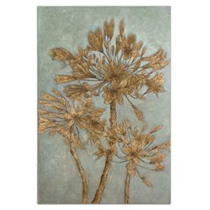 Uttermost Art Golden Leaves Wall Art