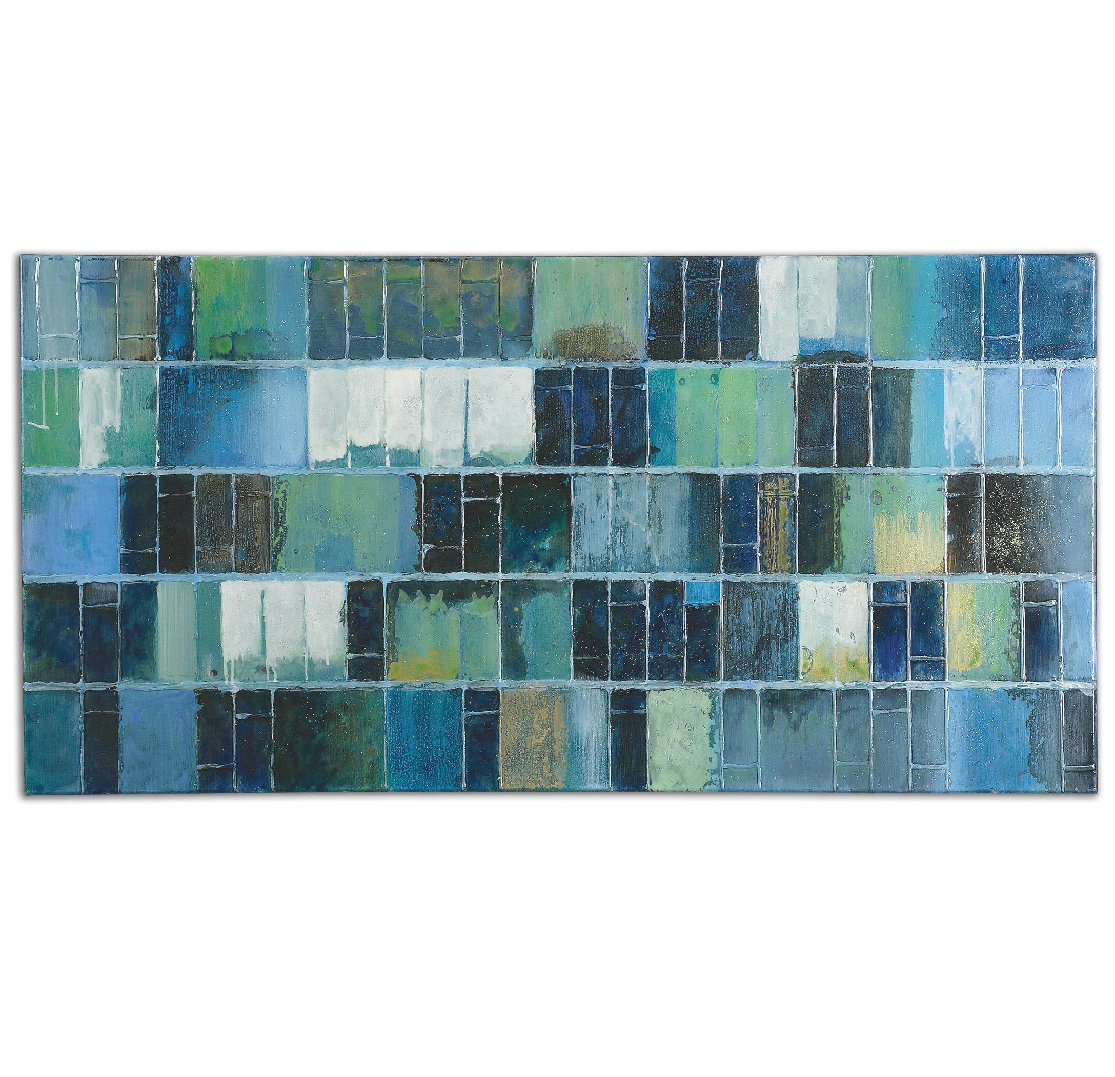 Uttermost Art Glass Tiles Modern Art - Item Number: 34300