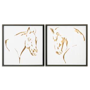 Uttermost Art Golden Horses Framed Art, S/2