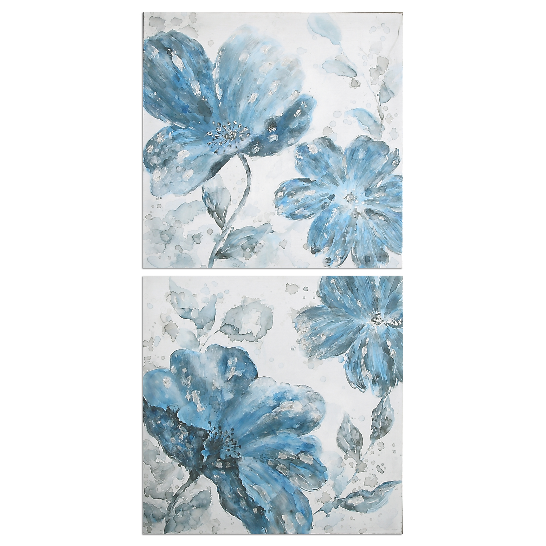 Uttermost Art Blue Tone Flowers S/2 - Item Number: 34306