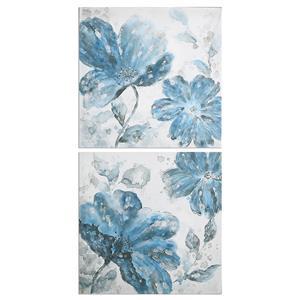 Uttermost Art Blue Tone Flowers S/2