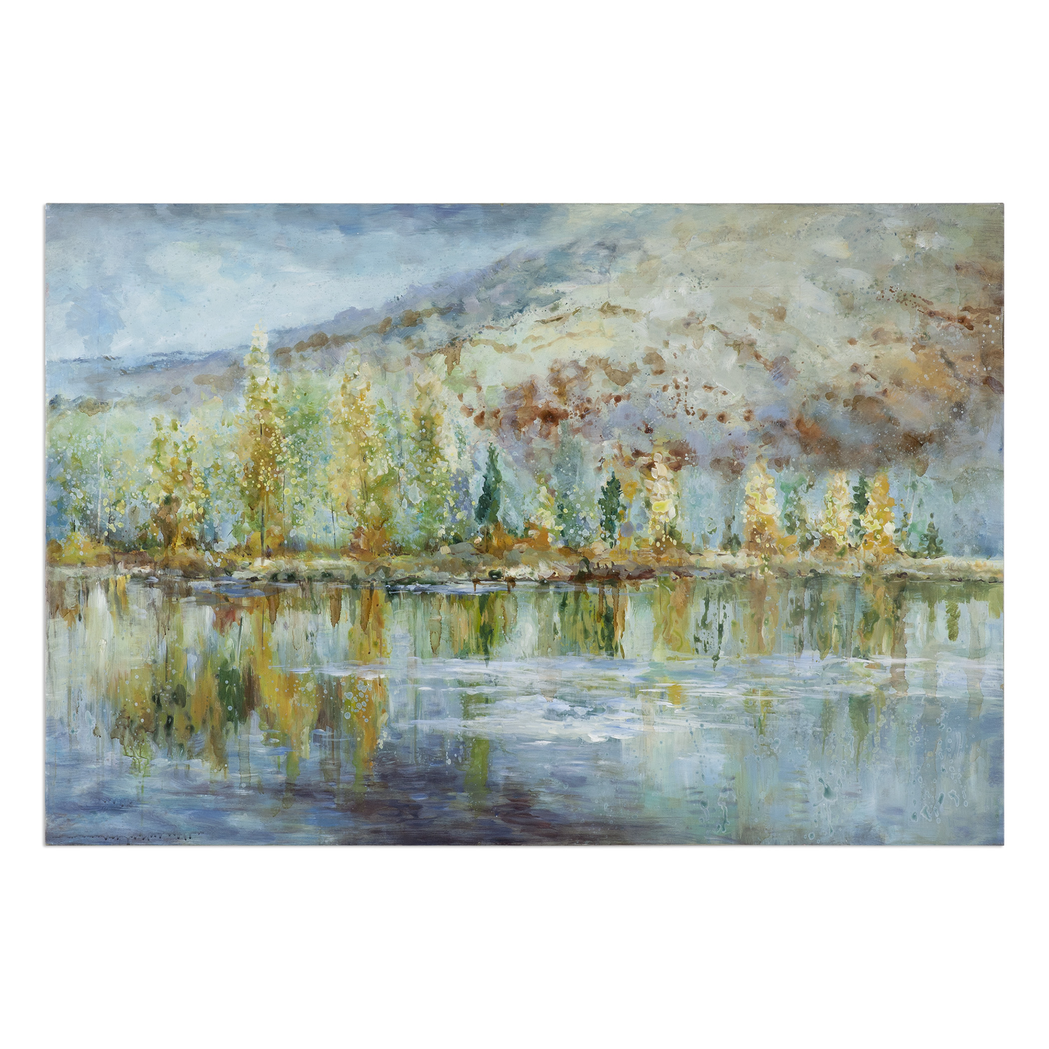Uttermost Art Autumn Reflection Landscape Art - Item Number: 34355
