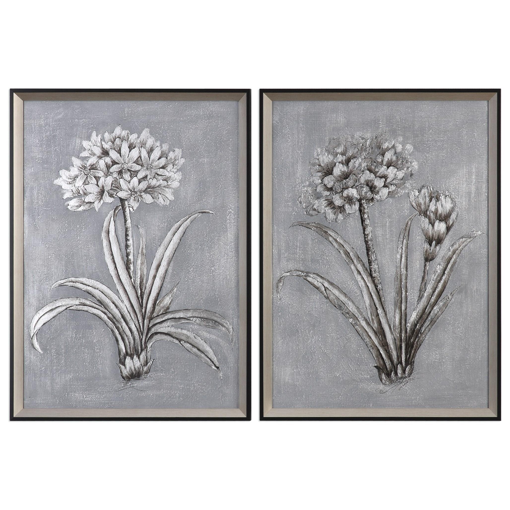 Uttermost Art Contemporary Botanicals (Set of 2) - Item Number: 34358