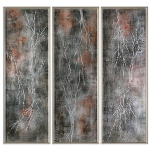 Uttermost Art Lightening Strikes (Set of 3)