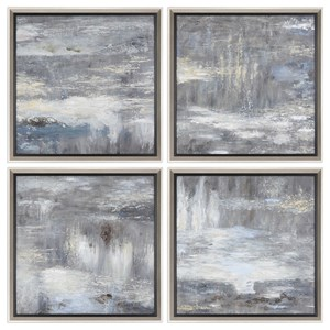 Uttermost Art Shades Of Gray Hand Painted Art Set of 4