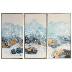 Uttermost Art Crashing Waves Abstract Art