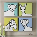 Uttermost Art Bow Wow Modern Art, S/4