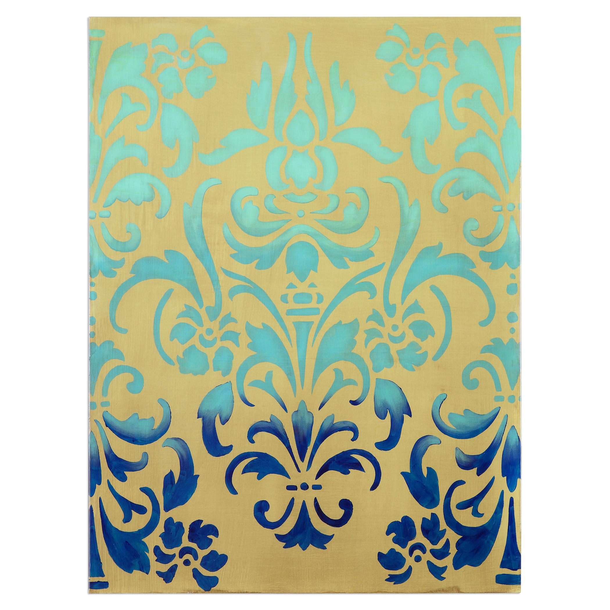 Uttermost Art Blue Ombre Stencil Art - Item Number: 34420