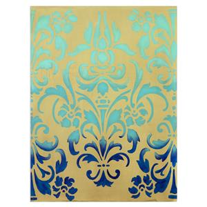 Uttermost Art Blue Ombre Stencil Art