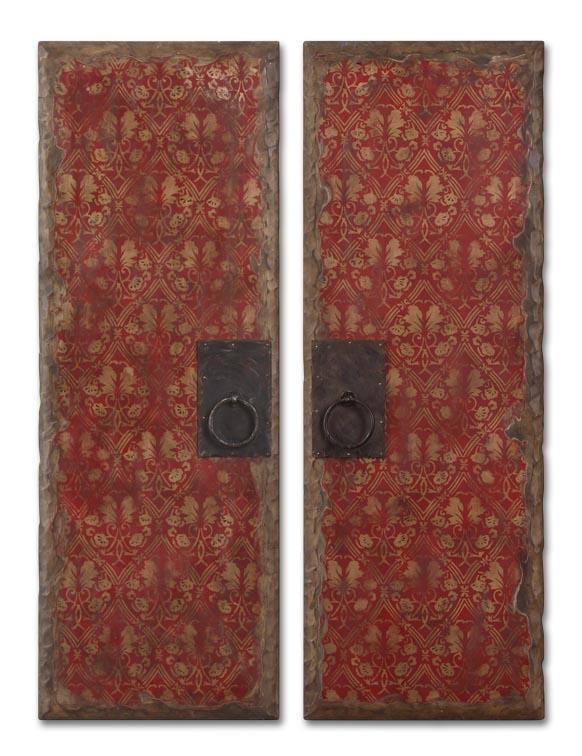 Uttermost Art Red Door Panels Set of 2 - Item Number: 35002