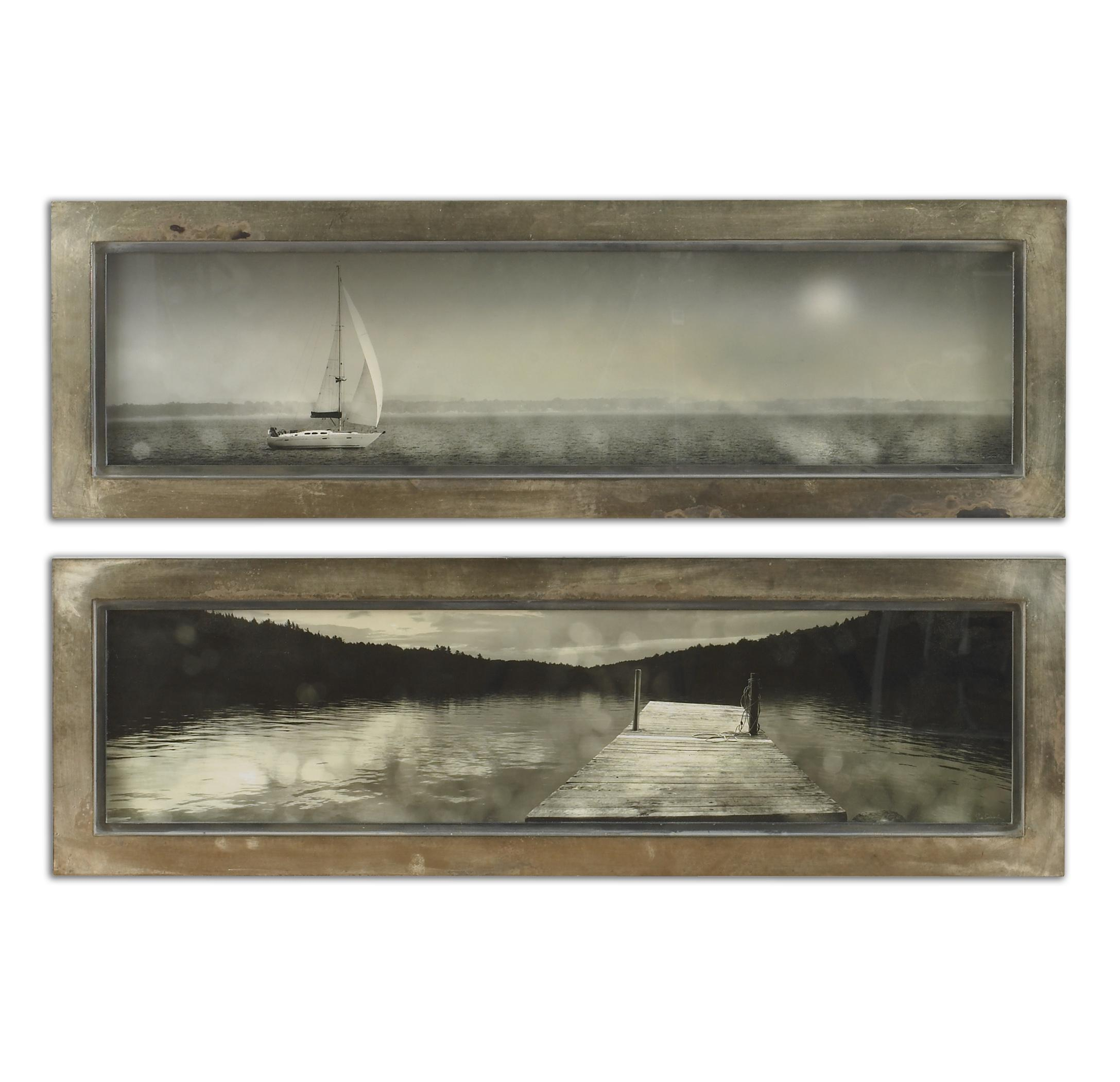 Uttermost Art Twilight Sail Framed Art Set of 2 - Item Number: 35232