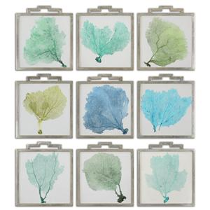 Uttermost Art Sea Fans Framed Art Set of 9