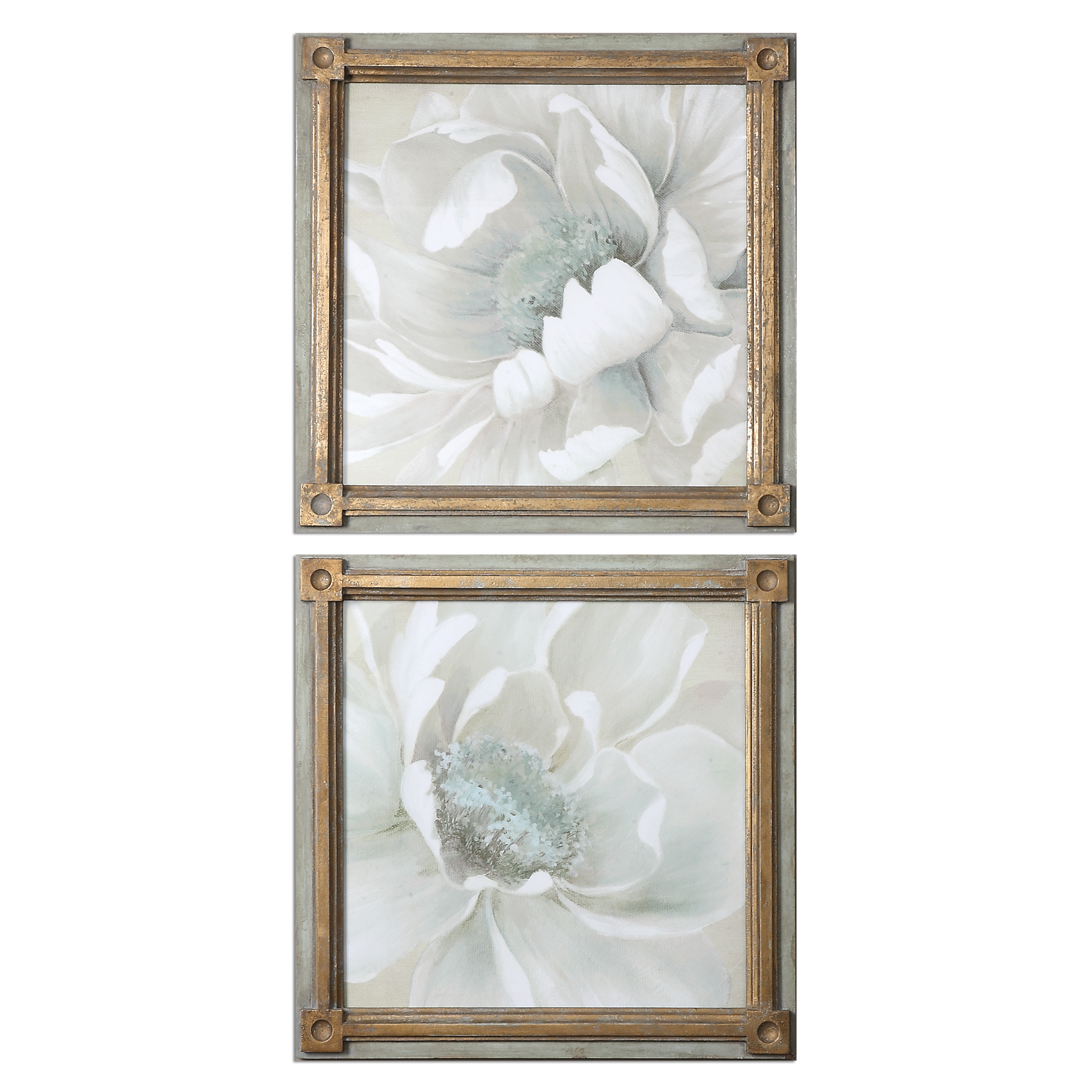 Uttermost Art Winter Blooms Floral Art S/2 - Item Number: 35241