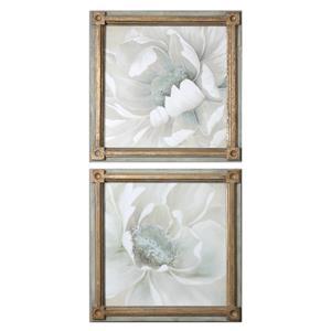 Uttermost Art Winter Blooms Floral Art S/2