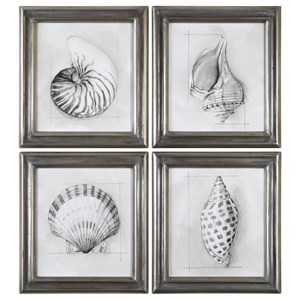 Uttermost Art Shell Schematic (Set of 4)
