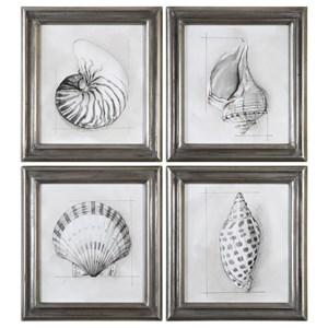 Uttermost Art Shell Schematic (Set of 4)