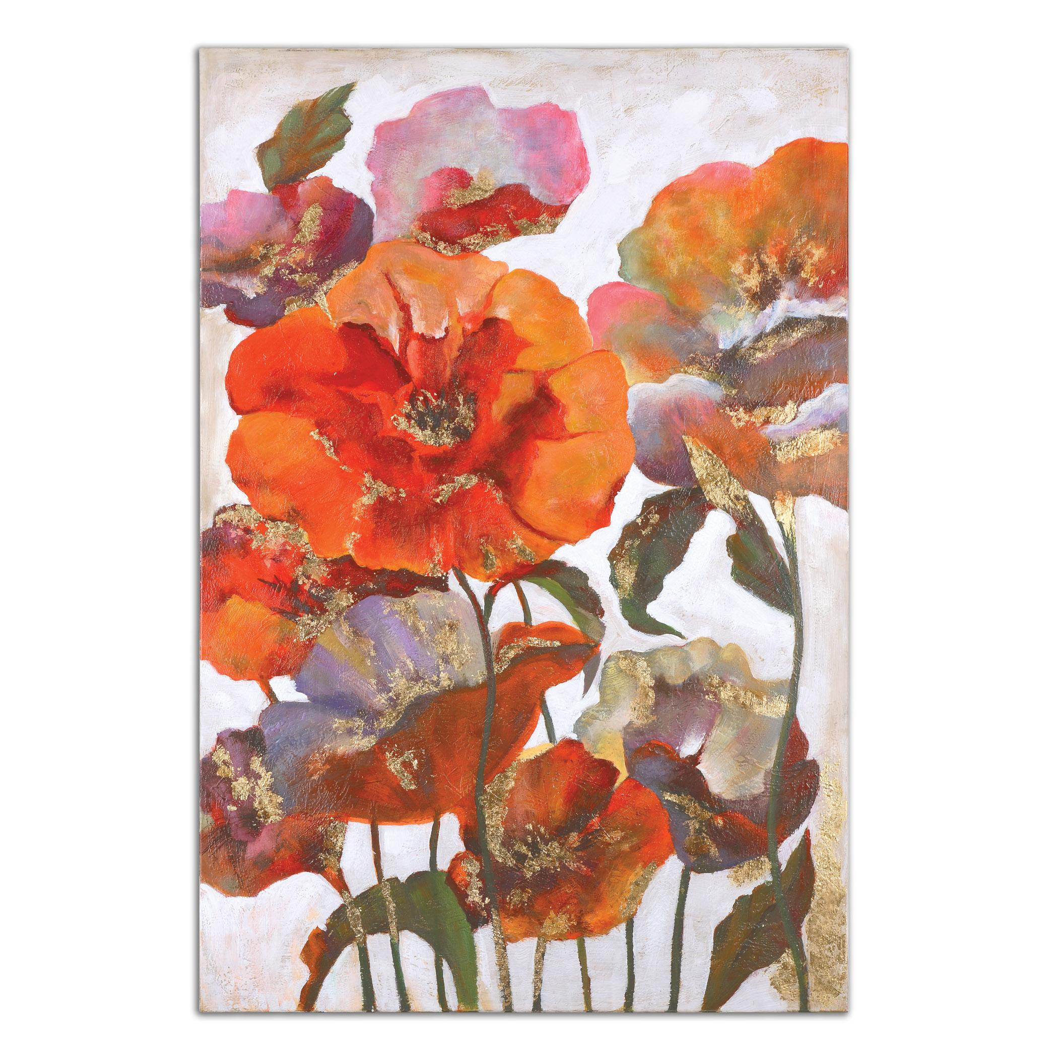 Uttermost Art Delightful Poppies Floral Art - Item Number: 35307