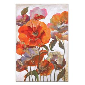 Uttermost Art Delightful Poppies Floral Art
