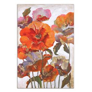 Uttermost Art Delightful Poppies Floral Art
