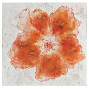 Uttermost Art Crushed Orange Floral Art