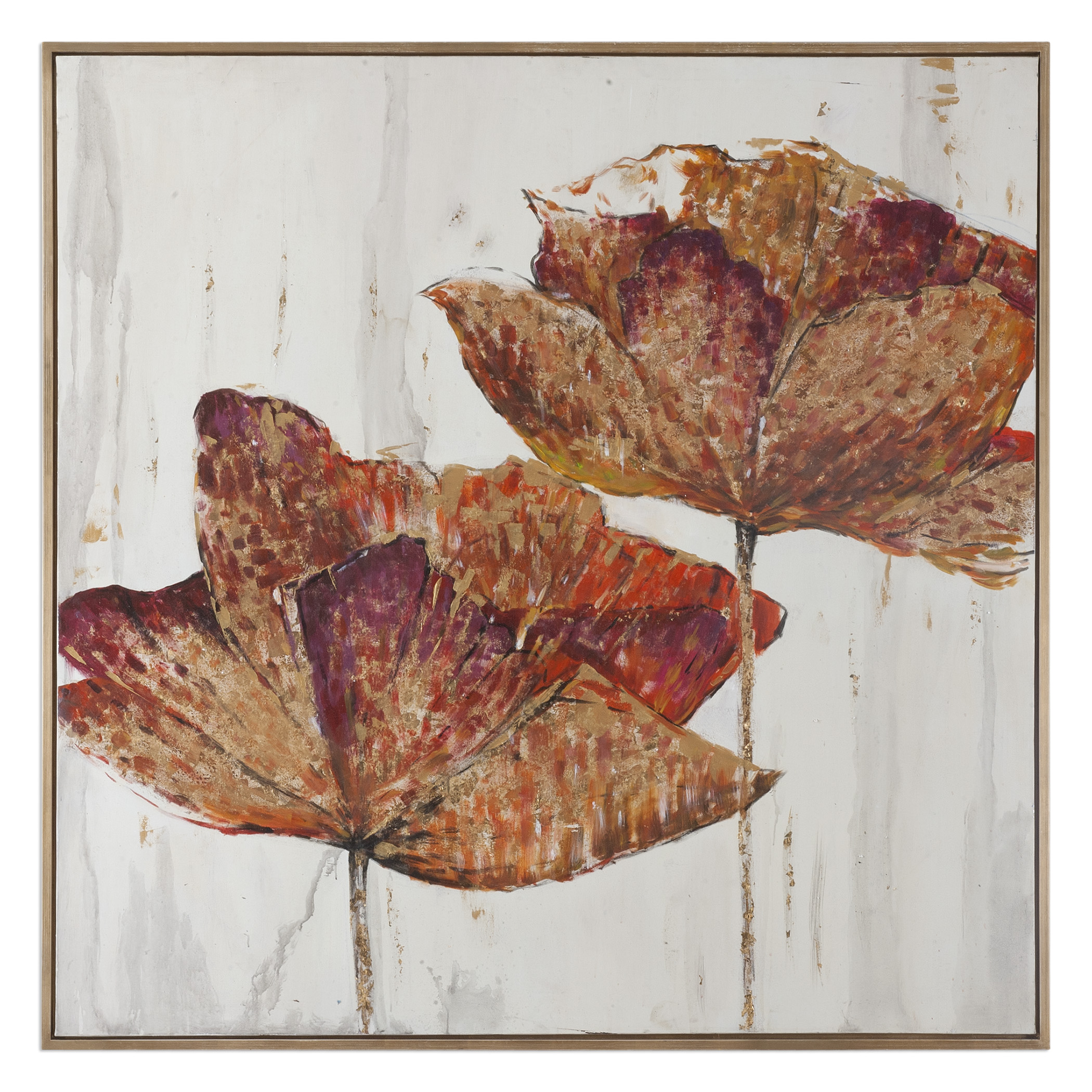 Uttermost Art Golden Accents Floral Art - Item Number: 35326