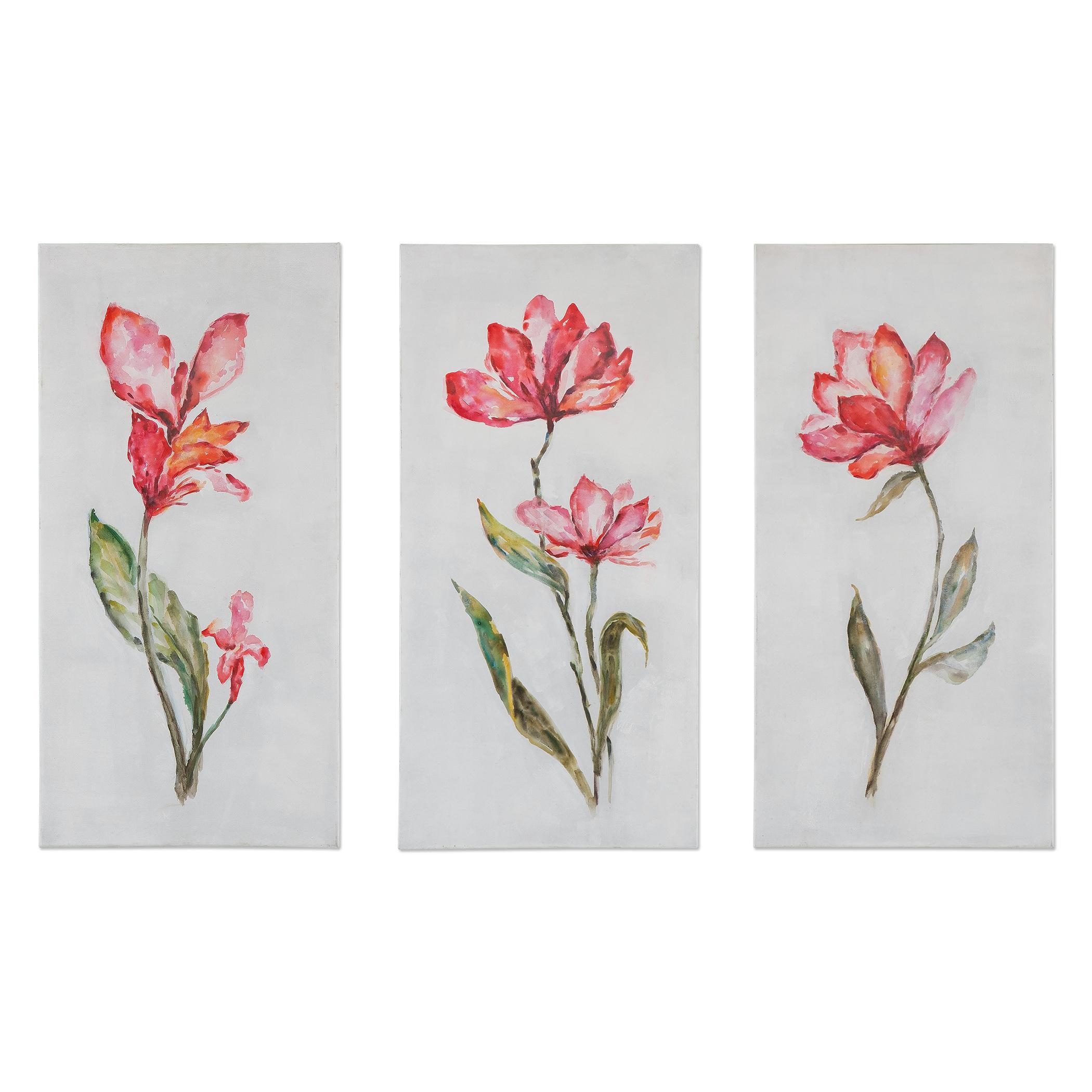 Uttermost Art Springtime Promise Floral Art, S/3 - Item Number: 35331