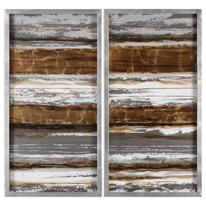 Uttermost Art Metallic Layers (Set of 2)