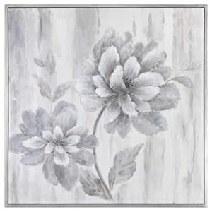 Uttermost Art Silver Leaf Floral Art